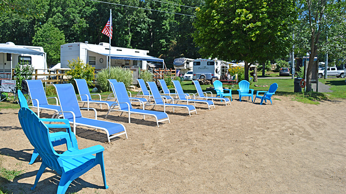 Beach Chairs at Riverdale Farm Campsites