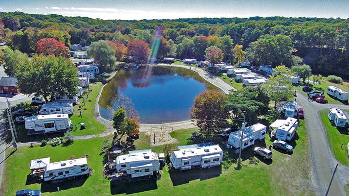 Aerial View of Riverdale Farm Campsites