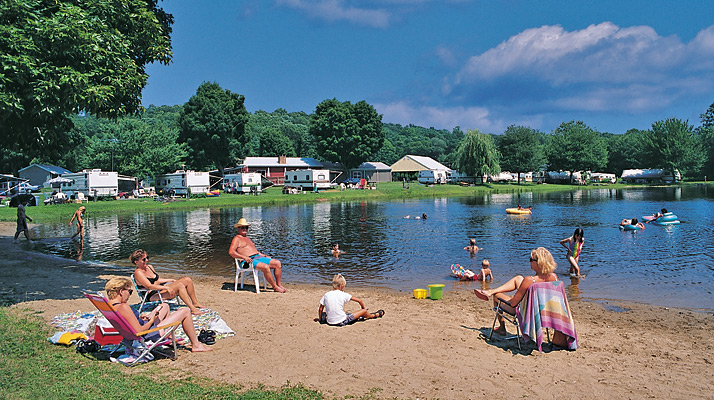 Swimming Beach at Riverdale Farm Campsites