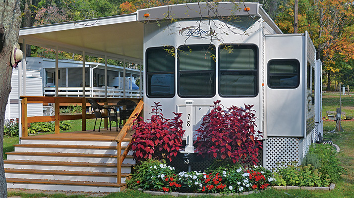 Seasonal Camper at Riverdale Farm Campsites